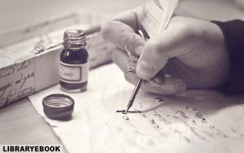 человек пишет книгу